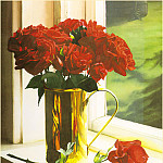 Barbara R Buer - RedRoses-BrassContainer