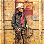 James E Bama - Slim Warren The Old Cowboy