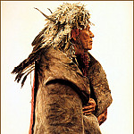 James E Bama - CrowIndian Wearing 1860 War Bonnet
