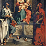 Musei Vaticani - The Madonna of the Pear (The Madonna and Child with Saints Jerome and Bartholomew)