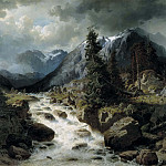 Landscape with Waterfall from the Canton of Uri, Switzerland