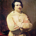 Louis Boulanger - Honore de Balzac (1799-1850) in his Monks Habit