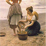 Eugene De Blaas - Gathering Shells