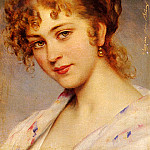 Eugene De Blaas - Von A Portrait Of A Young Lady