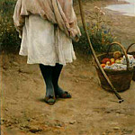 Eugene De Blaas - Fruit Vendor