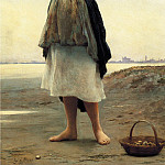 Eugene De Blaas - On the Beach