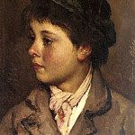 Eugene De Blaas - Head Of A Young Boy