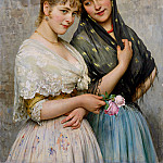 Eugene De Blaas - Two Venetian Women