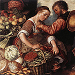 Joachim Beuckelaer - Woman Selling Vegetables