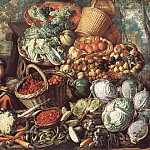 Joachim Beuckelaer - Market Woman With Fruit Vegetables And Poultry