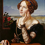 Theodor Hildebrandt - Wilhelmine Begas, the Artists Wife