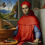 Lorenzo Costa - Portrait of a Cardinal in his Study