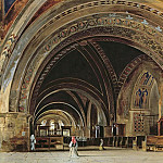 The Interior of the Lower Basilica of St. Francis of Assisi