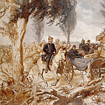 Friedrich August Von Kaulbach - Bismarck and Napoleon III after the Battle of Sedan