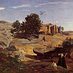 Jean-Baptiste-Camille Corot - Hagar in the Wilderness