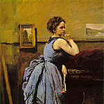 Jean-Baptiste-Camille Corot - Lady in blue, 1874, Musee du Louvre, Paris
