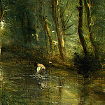 Jean-Baptiste-Camille Corot - The Eel Gatherers, c. 1860-1865, Detalj 5, NG Washingt