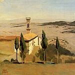 Jean-Baptiste-Camille Corot - Volterra Church and Bell Tower
