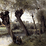 Jean-Baptiste-Camille Corot - Saint Nicholas les Arras Willows on the Banks of the Scarpe