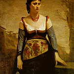 Jean-Baptiste-Camille Corot - Agostina ca 1866, 132.8x97.6 cm, The National Gallery