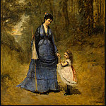 Jean-Baptiste-Camille Corot - Madame Stumpf and Her Daughter, 1872, NG Washington