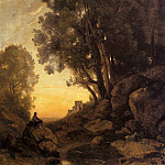 Jean-Baptiste-Camille Corot - The Italian Goatherd Evening