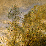 Jean-Baptiste-Camille Corot - The Forest of Coubron, 1872, Detalj 1, NG Washington