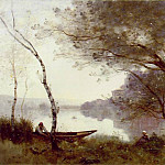 Jean-Baptiste-Camille Corot - The Boatman of Mortefontaine, ca 1865-1870, 60.9x89.8
