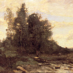 Jean-Baptiste-Camille Corot - Le torrent pierreaux