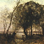 Jean-Baptiste-Camille Corot - The Lake, 1861, 133x157.5 cm, Frick coll. NY