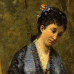 Jean-Baptiste-Camille Corot - Madame Stumpf and Her Daughter, 1872, Detalj 3, NG Was