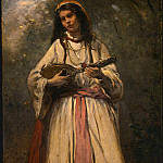 Jean-Baptiste-Camille Corot - Gypsy Girl with Mandolin, probably c. 1870-1875