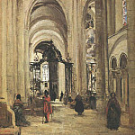 Jean-Baptiste-Camille Corot - Interior of Sens Cathedral, 1874, Louvre