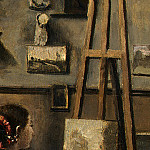 Jean-Baptiste-Camille Corot - The Artists Studio, c. 1855-1860, Detalj 2, NG Washin