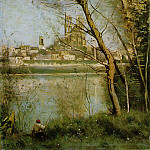 Jean-Baptiste-Camille Corot - The Cathedral of Mantes, 1865-1869, Musee Saint Denis,