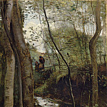 Jean-Baptiste-Camille Corot - Stream in the Woods aka Un ruisseau sous bois