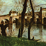 Jean-Baptiste-Camille Corot - The Bridge at Nantes, Musee du Louvre at Paris