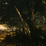 Jean-Baptiste-Camille Corot - Forest of Fontainebleau, c. 1830, Detalj 6, NG Washing