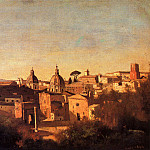 Jean-Baptiste-Camille Corot - Forum Viewed From The Farnese Gardens