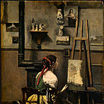 Jean-Baptiste-Camille Corot - The Artists Studio, c. 1855-1860, NG Washington