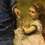 Jean-Baptiste-Camille Corot - Madame Stumpf and Her Daughter, 1872, Detalj 4, NG Was