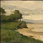 Jean-Baptiste-Camille Corot - Beach near Etretat, 1872, NG Washington