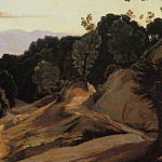Jean-Baptiste-Camille Corot - Road through Wooded Mountains