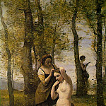 Jean-Baptiste-Camille Corot - La Toilette (Landscape with Figures), 1859, Private co
