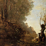 Jean-Baptiste-Camille Corot - The Happy Isle