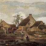 Jean-Baptiste-Camille Corot - A Farm in the Nievre