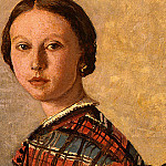 Jean-Baptiste-Camille Corot - Portrait of a Young Girl, 1859, Detalj 1, NG Washingto