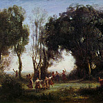 Jean-Baptiste-Camille Corot - Morning, the Dance of the Nymphs, ca 1850, Louvre