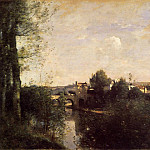 Jean-Baptiste-Camille Corot - Old Bridge at Limay on the Seine
