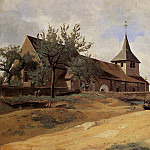 Jean-Baptiste-Camille Corot - The Church at Lormes